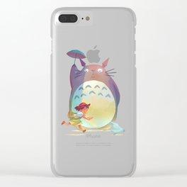 Studio ghibli Umberella Clear iPhone Case