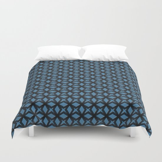 Blue Black Replay Duvet Cover
