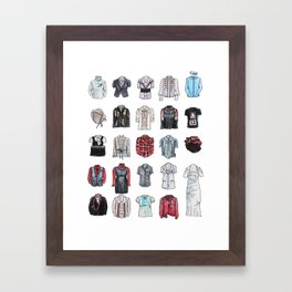 Clothes For Large Colonial Dolls Framed Art Print