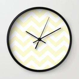 Light goldenrod yellow - pink color - Zigzag Chevron Pattern Wall Clock