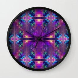 Colourful magic, fractal pattern abstract Wall Clock