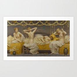 A Summer Night by Albert Joseph Moore Art Print