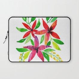 Beautiful Watercolor Floral Element Laptop Sleeve