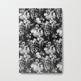 Through The Flowers // Floral Collage Metal Print
