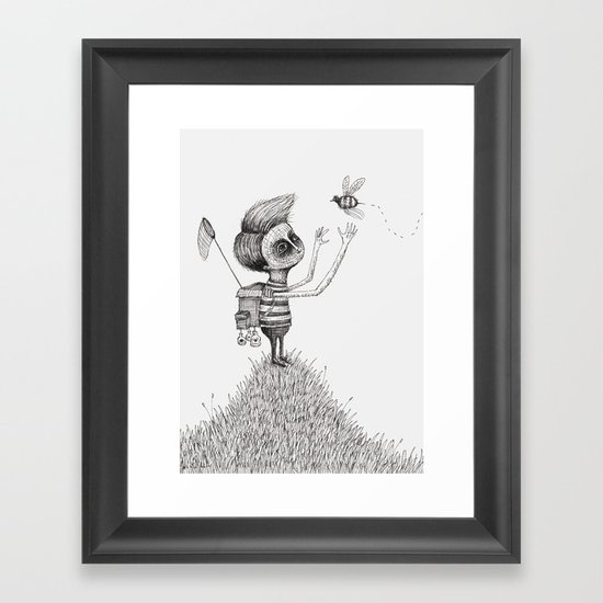 'The Bug Collector' Framed Art Print