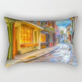 Medieval Shambles York Art Rectangular Pillow