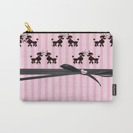 Poodles And Pink Hearts Carry-All Pouch
