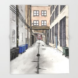 Alley in Ravenswood, Chicago Throw Blanket