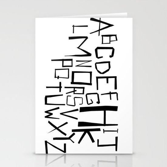 Alphabet #2 Stationery Cards