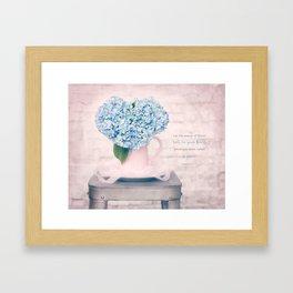 Hydrangea Heart* Framed Art Print