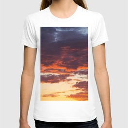 Sunset Clouds Red Yellow Blue T-shirt