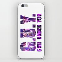 artrave iPhone & iPod Skins featuring artRAVE G.U.Y. by ARTPOPdesigns