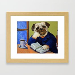 Epic Tales Of The Pug King Framed Art Print