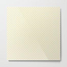 Custard Polka Dots Metal Print