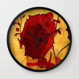 2nd Place Rose - 024 Wall Clock