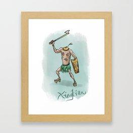 Xingtian illustration Framed Art Print