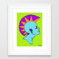 goddess Framed Art Prints featuring Goddess by Helena Bowie Banshees
