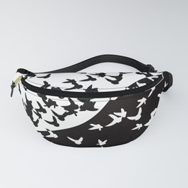Flocks of birds. Allegory of day and night Fanny Pack