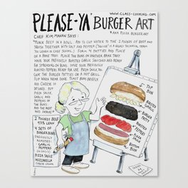 PleaseYa Burger aka Pizza Burger Canvas Print