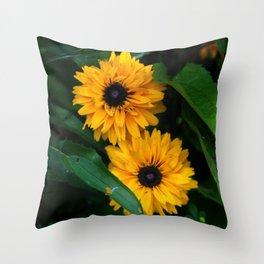 Susan's Flowers Throw Pillow