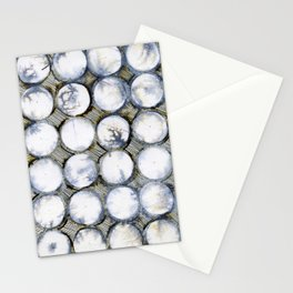 WATERCOLOUR DISCS: White Howlite Stationery Cards