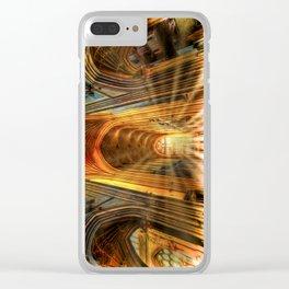 Bath Abbey Sun Rays Art Clear iPhone Case