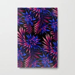Aechmea Fasciata - Dark Blue / Purple Metal Print
