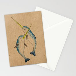 Winter Narwhals Stationery Cards