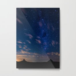 Milky Way over the Glass House Mountains Metal Print