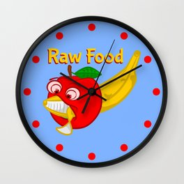 Raw Foods Food Fight Wall Clock