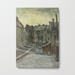 Houses Seen from the Back Metal Print