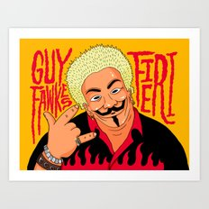 Guy Fawkesieri  Art Print