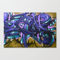 graffiti Canvas Prints featuring Graffiti by Fine2art