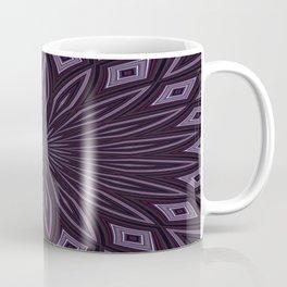 Eggplant and Aubergine Floral Design Coffee Mug