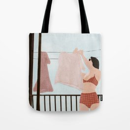 Hanging Clothes Tote Bag