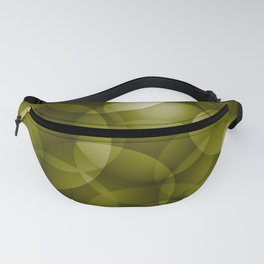 Dark intersecting translucent olive circles in bright colors with an oily glow. Fanny Pack