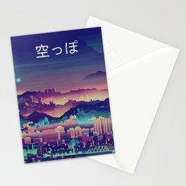Vaporwave Japanese City Stationery Cards