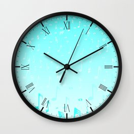 Snowing Music Wall Clock