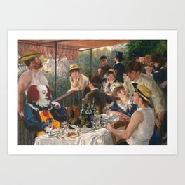 IT's Pennywise in Luncheon of the Boating Party Art Print
