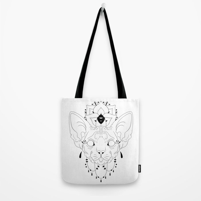 Mandala Sphynx Tote Bag