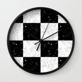 Elegant black white marble Wall Clock