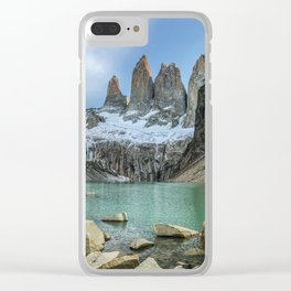 The Base of the Towers | Torres del Paine National Park, Patagonia Clear iPhone Case