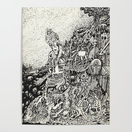 My City Driven by Fire Into the Sea Poster