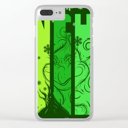 A mean one Clear iPhone Case