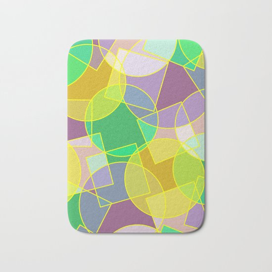 Colorful abstract geometric pattern Bath Mat