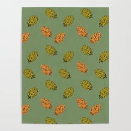 Autumn seed pattern Poster