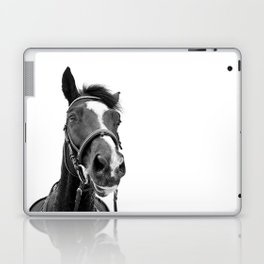 Horse Photo | Black and White Laptop & iPad Skin