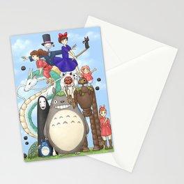 Ghibli mashup Stationery Cards