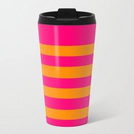 Hot Pink and Tangerine Orange Travel Mug