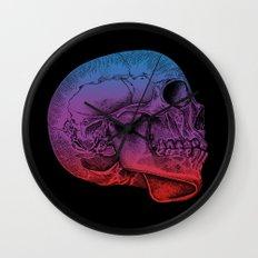 Rainbow Skull Joy Wall Clock